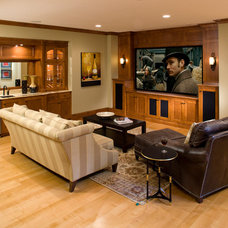 Traditional Home Theater by Alexander Design Group, Inc.