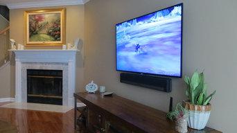 Living Room TV & Sound Bar