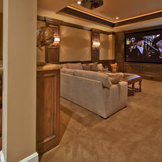 Traditional Home Theater by Lochwood-Lozier Custom Homes