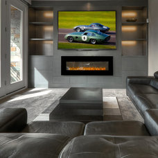 Contemporary Home Theater by Lochwood-Lozier Custom Homes