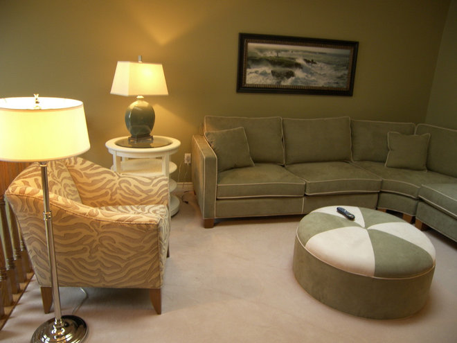 Contemporary Home Theater by Cynthia Taylor-Luce