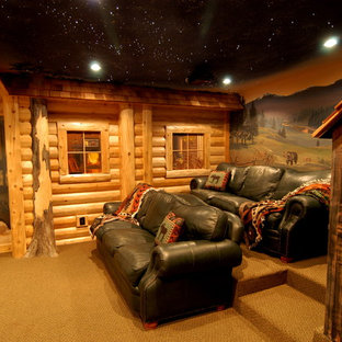 Log home theater
