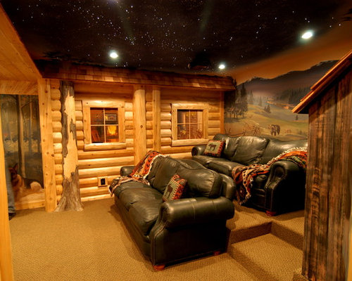 Log cabin basement ideas home design ideas pictures for Log cabin plans with basement