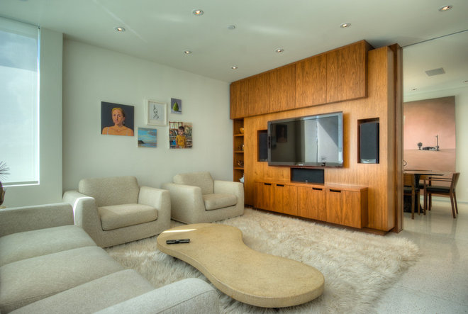 Modern Home Theater by Bertram Architects