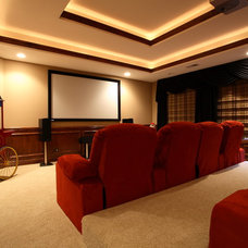 Traditional Home Theater by Lord General Contractors Corp