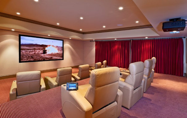 Contemporary Home Theater by VIA – Los Angeles