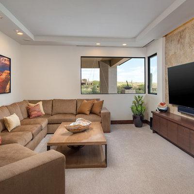 Trendy home theater photo in Phoenix