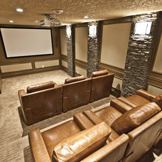 Contemporary Home Theater by Marcson Homes Ltd.