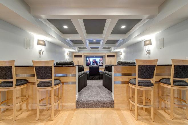 Traditional Home Theater by Lorrien Homes & Remodeling