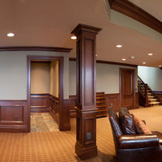 Traditional Home Theater by Schill Architecture LLC