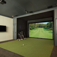Contemporary Home Theater by Camelot Custom Building