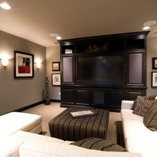 Traditional Home Theater by The Leland Group