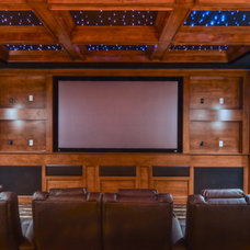 Traditional Home Theater by LuAnn Development, Inc.