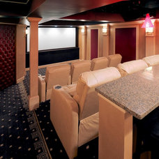 Traditional Home Theater by Lucia Lighting & Design