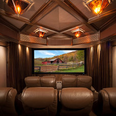 Traditional Home Theater by Electronic Home, Inc.