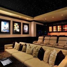Contemporary Home Theater by CinemaTech Theater Seating, Design & Acoustics