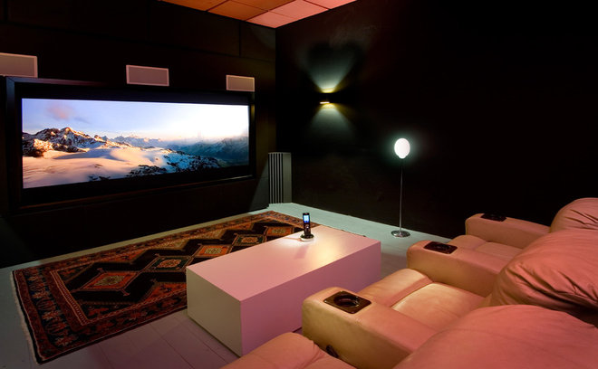 contemporary media room by Elad Gonen