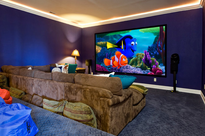 Traditional Home Theater by Maja Butler-Realogics Sotheby's Intl. Realty