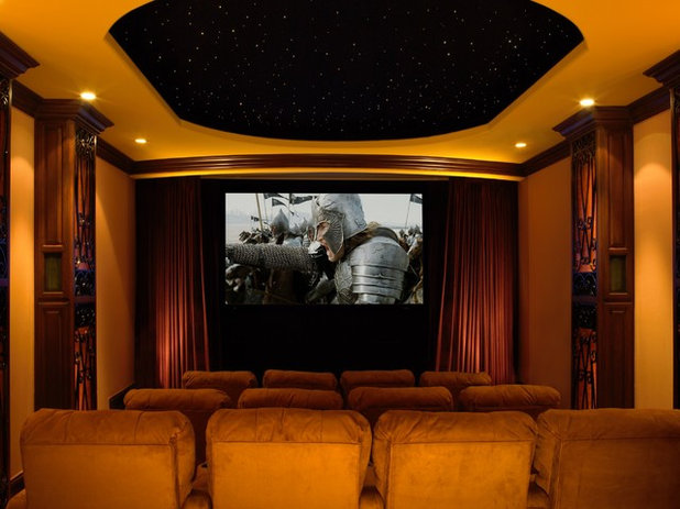 Traditional Home Theater by DSI Luxury Technology