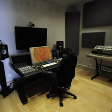 Contemporary Home Theater Man Cave#1 (my hobby studio)