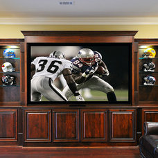 Traditional Home Theater by White Oak Renovations
