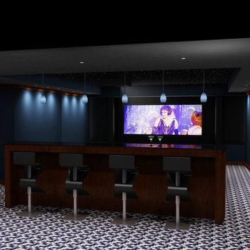 Marina Blue Custom Theatre