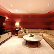 Modern Home Theater by A. Keith Powell Interior