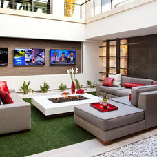 Contemporary Home Theater by Jim K. Decker Photography