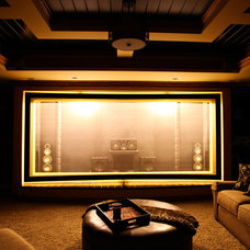 Craftsman Home Theater Martin Theater - Acoustically Transparent Screen