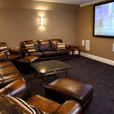Traditional Home Theater by Artisan Custom Homes