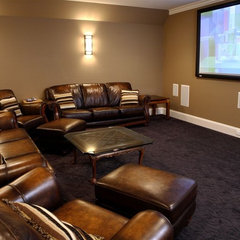 traditional media room by Artisan Custom Homes