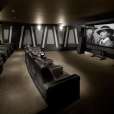 Traditional Home Theater by Michael Matrka, Inc