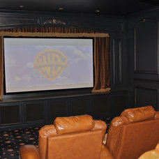 Mediterranean Home Theater by Superior Plan Design