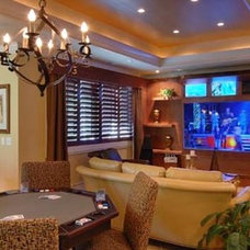 Contemporary Home Theater by McSpadden Custom Homes