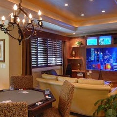 contemporary media room by McSpadden Custom Homes