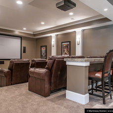 Traditional Home Theater by Martineau Homes