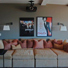 Traditional Home Theater by Mahoney Architects & Interiors