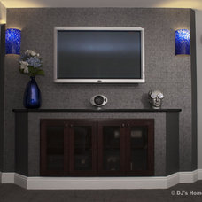 Contemporary Home Theater by DJ's Home Improvements