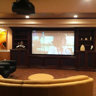 Media Man-Cave Home Theater Projector Rooms