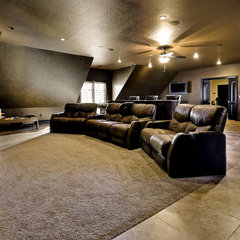traditional media room by Celtic Custom Homes