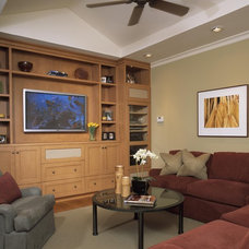 Traditional Home Theater by Alfonso and Harmon Architects