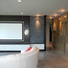 Contemporary Home Theater by Advanced House Plans
