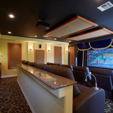 Traditional Home Theater by Westphall Remodeling