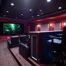Traditional Home Theater by Rule4 Building Group
