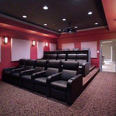 traditional media room by Rule4 Building Group