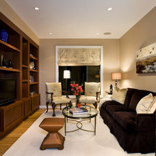 Transitional Home Theater by Logan's Hammer Building & Renovation
