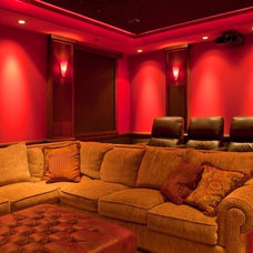 Traditional Home Theater by ARTifact Interior Design