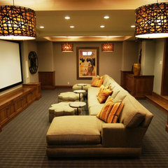 traditional media room by Baker Court Interiors