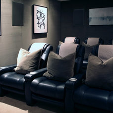 Traditional Home Theater by Bliss Design Firm