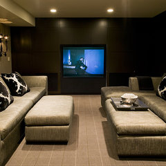contemporary media room by Bruce Johnson & Associates Interior Design